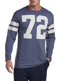 Reebok 72 Long-Sleeve Mesh Heather Tee